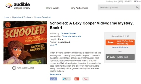 Schooled page on Audible